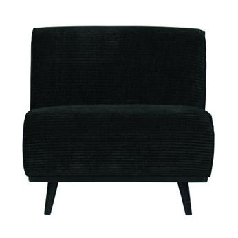 fauteuil noir velours