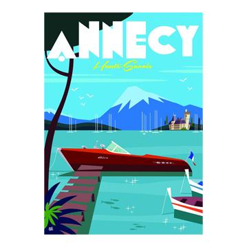 affiche du lac d'annecy