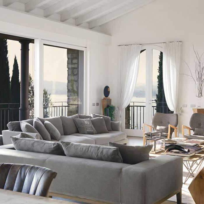 décoration salon gris et blanc