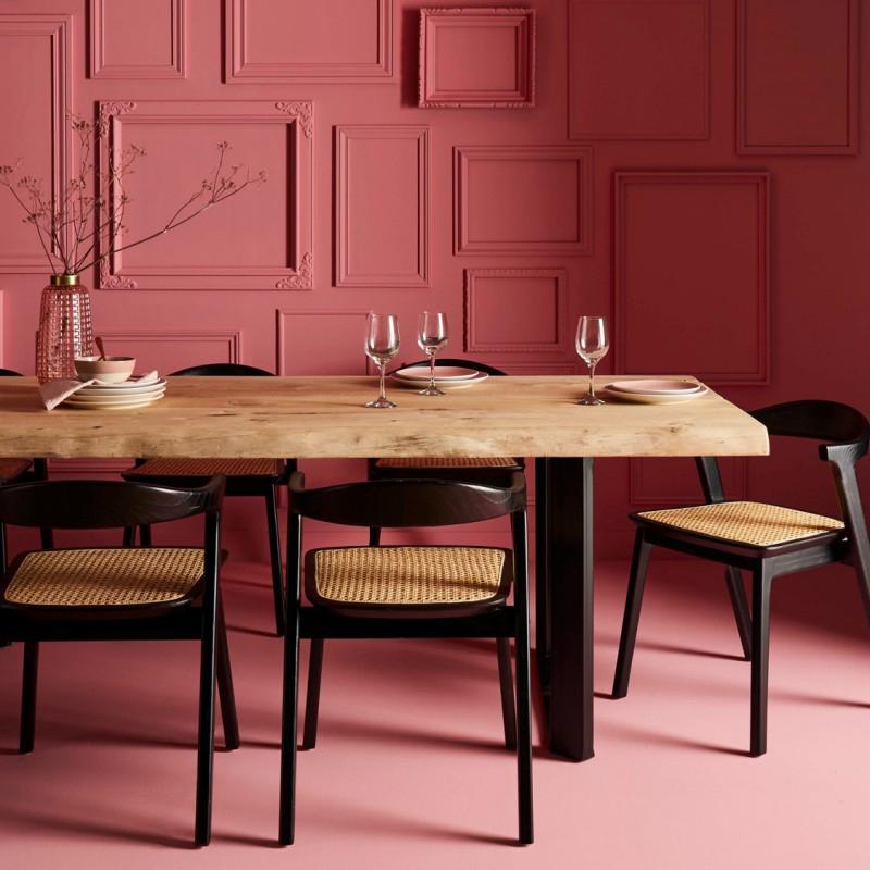 salle à manger rose pourpre